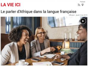 Le parler d'Afrique dans la langue française