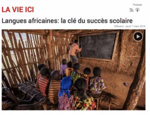 Langues africaines: la clé du succès scolaire
