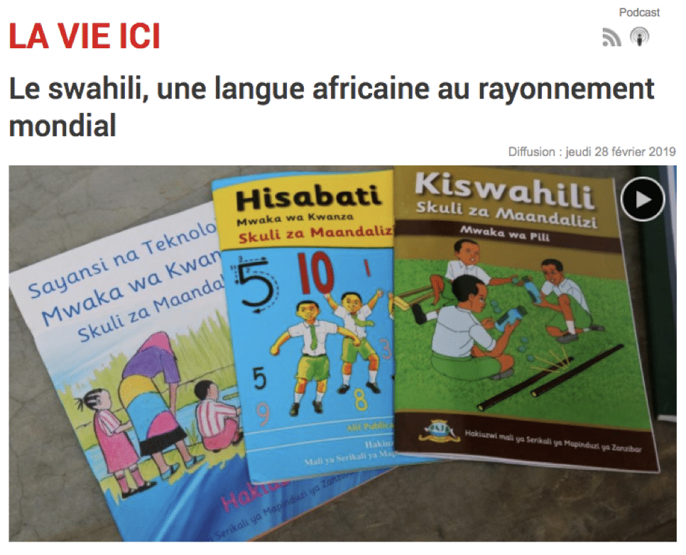 Le swahili, une langue africaine au rayonnement mondial
