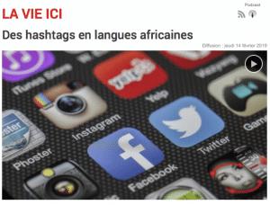 Des hashtags en langues africaines