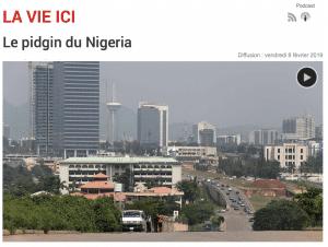Le pidgin du Nigeria