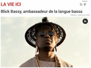 Blick Bassy, ambassadeur de la langue bassa