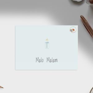 Carte naissance – Langue Bassa biberon