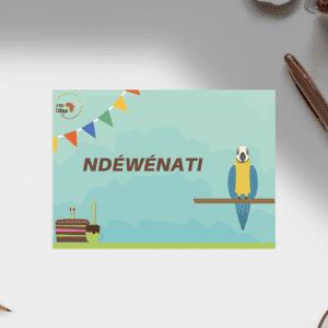 Carte d'anniversaire – Langue Wolof
