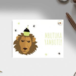 Carte d'anniversaire – Langue Kikongo