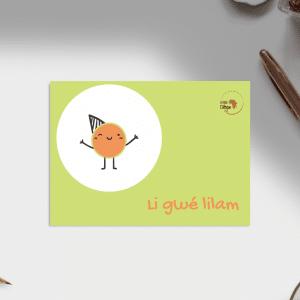 Carte d'anniversaire – Langue Bassa