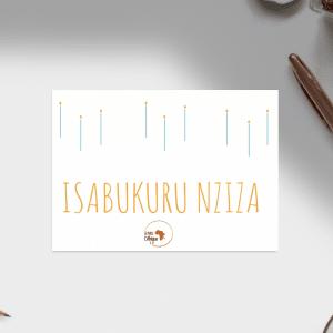 Carte d'anniversaire – Langue Kinyarwanda