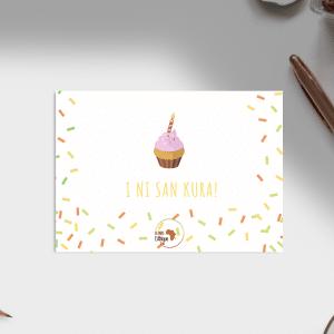 Carte d'anniversaire – Langue Bambara