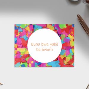 Carte d'anniversaire – Langue Douala