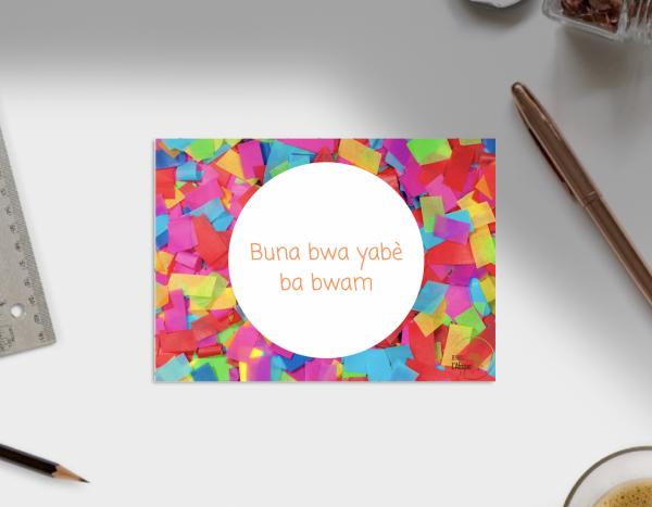 Langue Douala anniversaire
