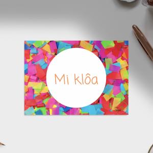 Carte d'anniversaire – Langue Baoulé