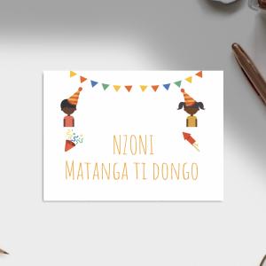 Carte d'anniversaire – Langue Sango
