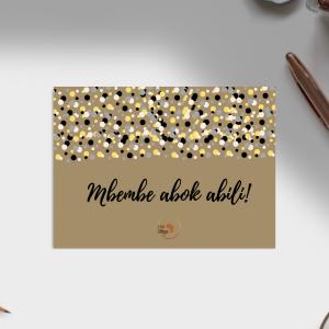 Carte d'anniversaire – Langue Ewondo