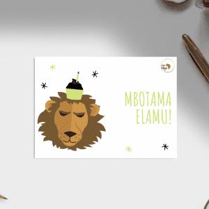 Carte anniversaire – Langue Lingala