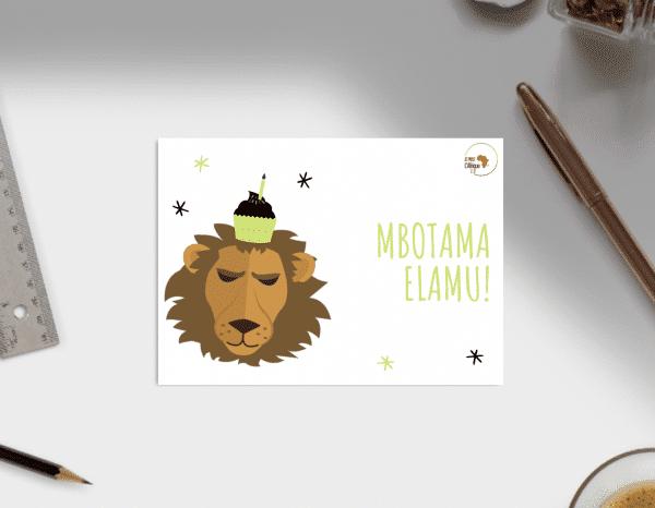 Carte anniversaire lingala