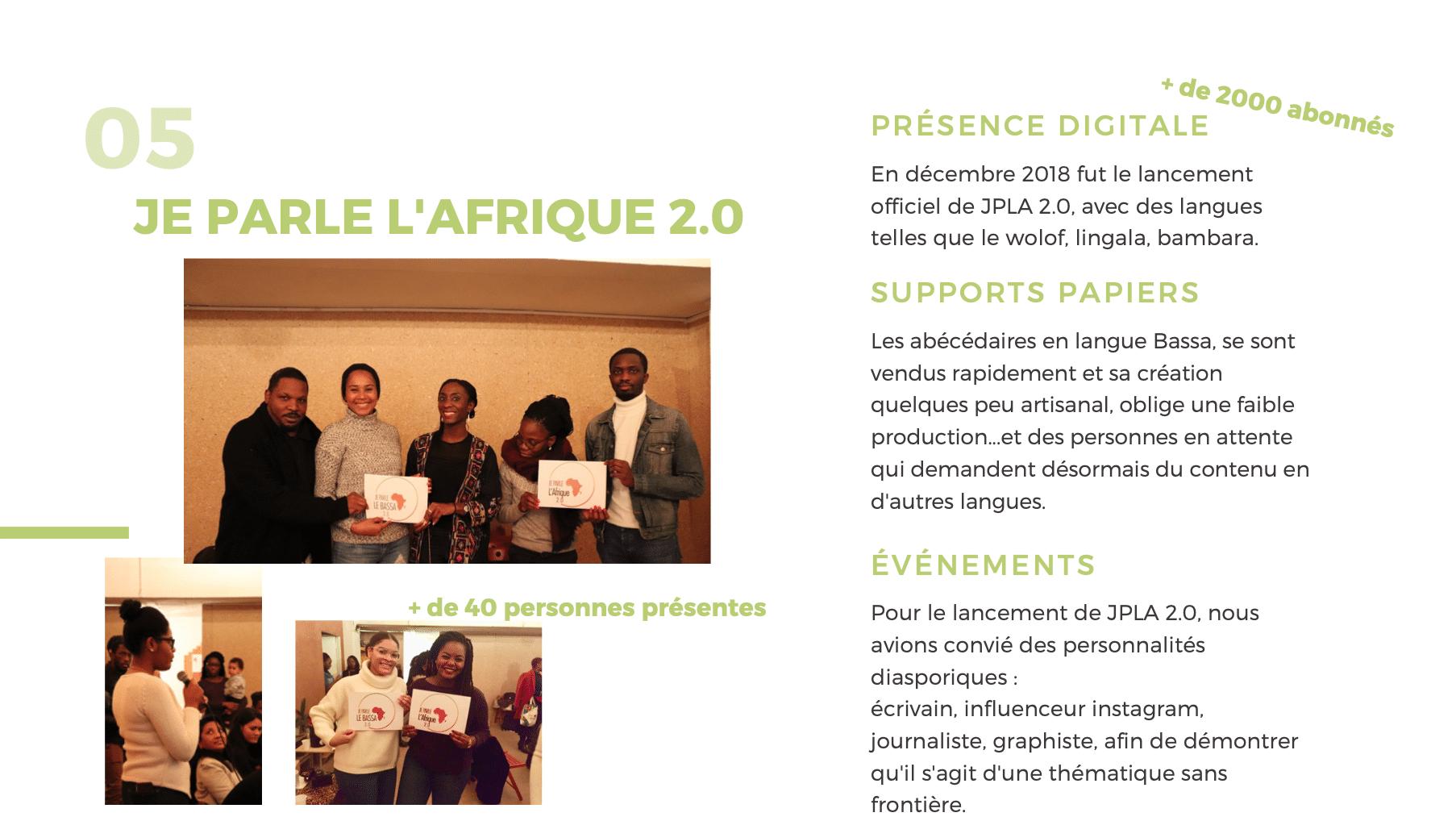 Presentation je parle le bassa 2.0 je parle l'Afrique .20 scheena donna fred ebami mbougar Sara sinatou saka page 5