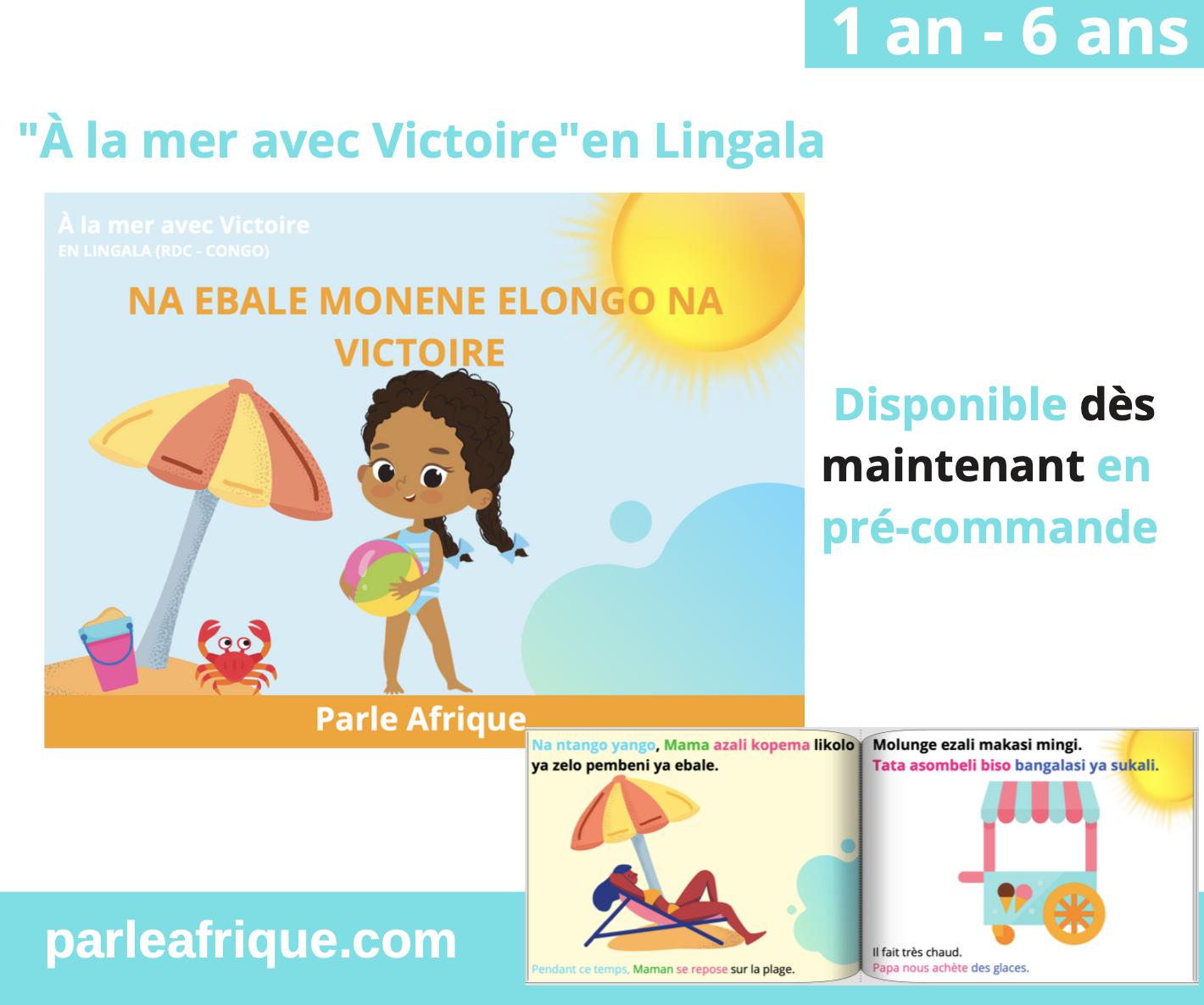 à la mer en lingala langues africaines parle Afrique enfant